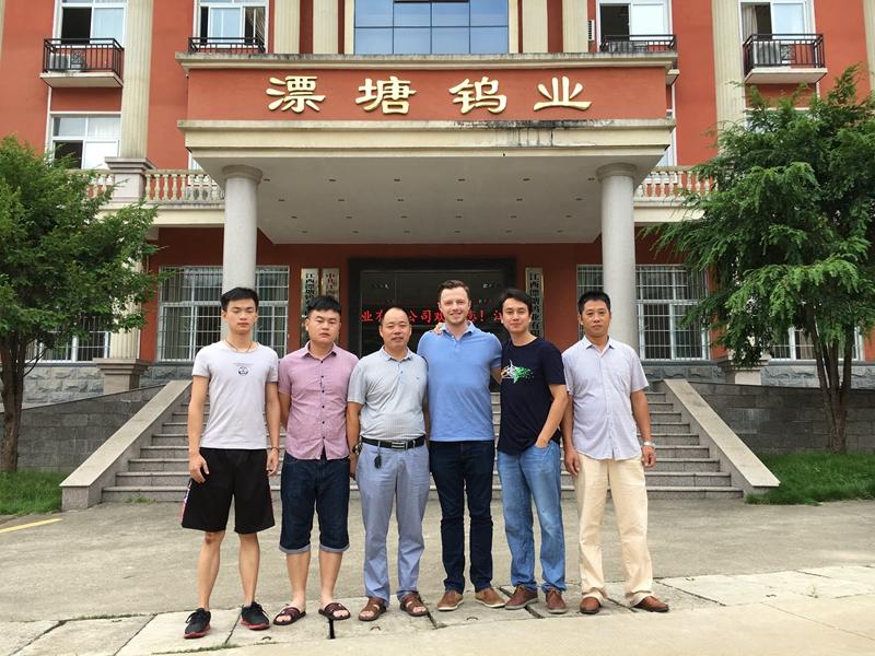 IMS矿震研究院系统工程师Andries前往江西漂塘钨业进行微震系统联合调试